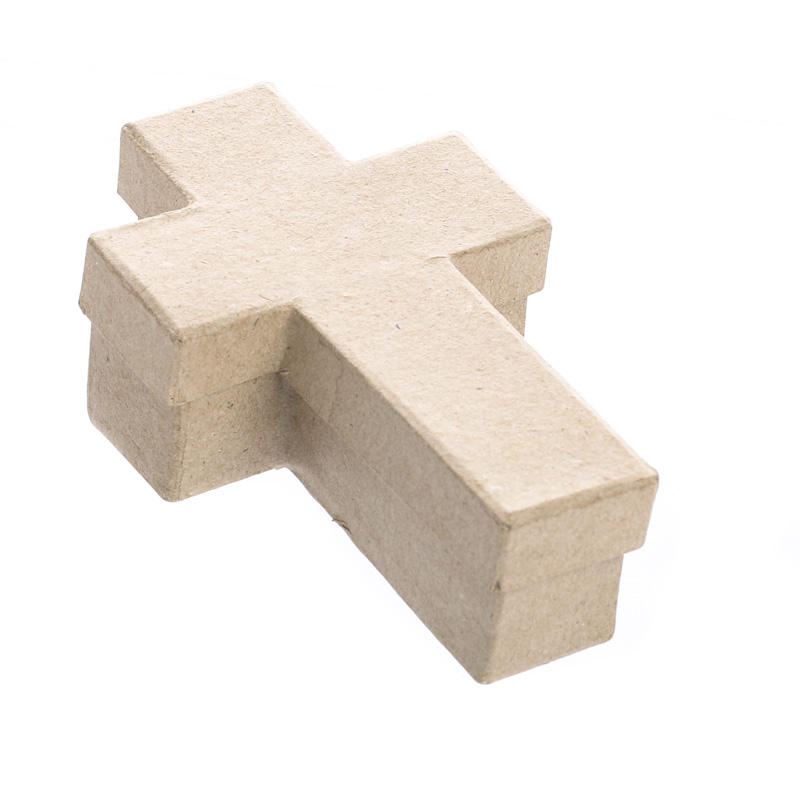 Paper mache cross box paper mache basic craft supplies for Cardboard crosses for crafts