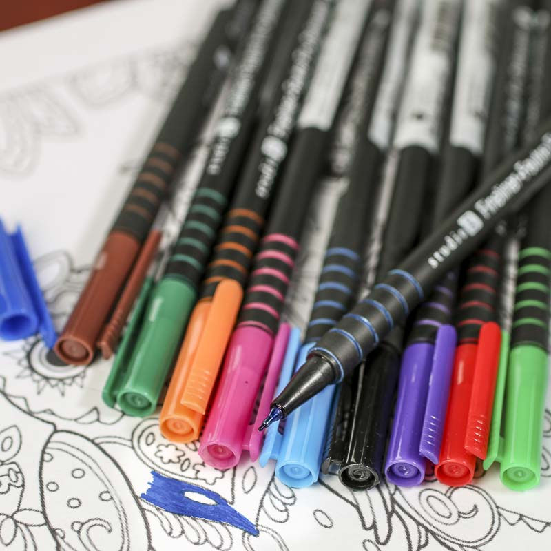 Adult Coloring Fineliner Markers - Markers and Pens - Paper Crafting ...