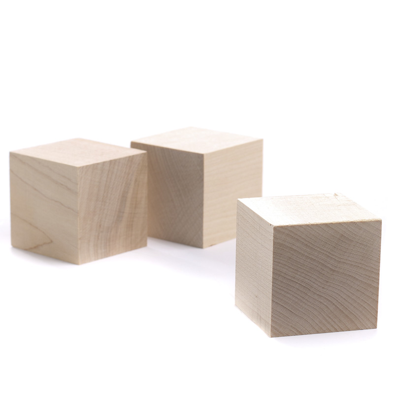 Wooden cubes unfinished wood craft supplies autos post for Unfinished wood pieces for crafts