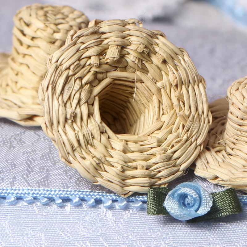Miniature straw doll hat doll hats doll making for Tiny top hats for crafts