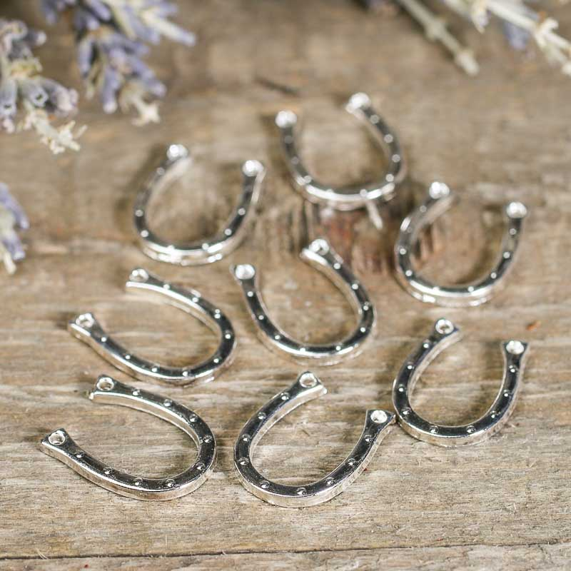 Silver Horseshoe Charms Jewelry Charms Jewelry Making