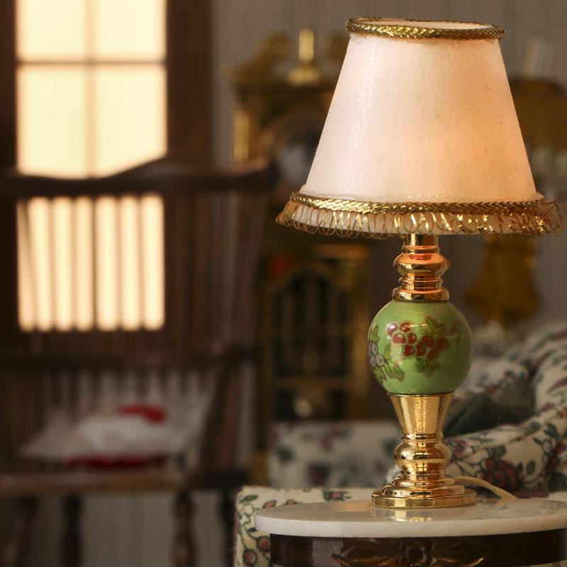 Dollhouse Lamp Miniatures: Dollhouse Miniature Electric Lamp