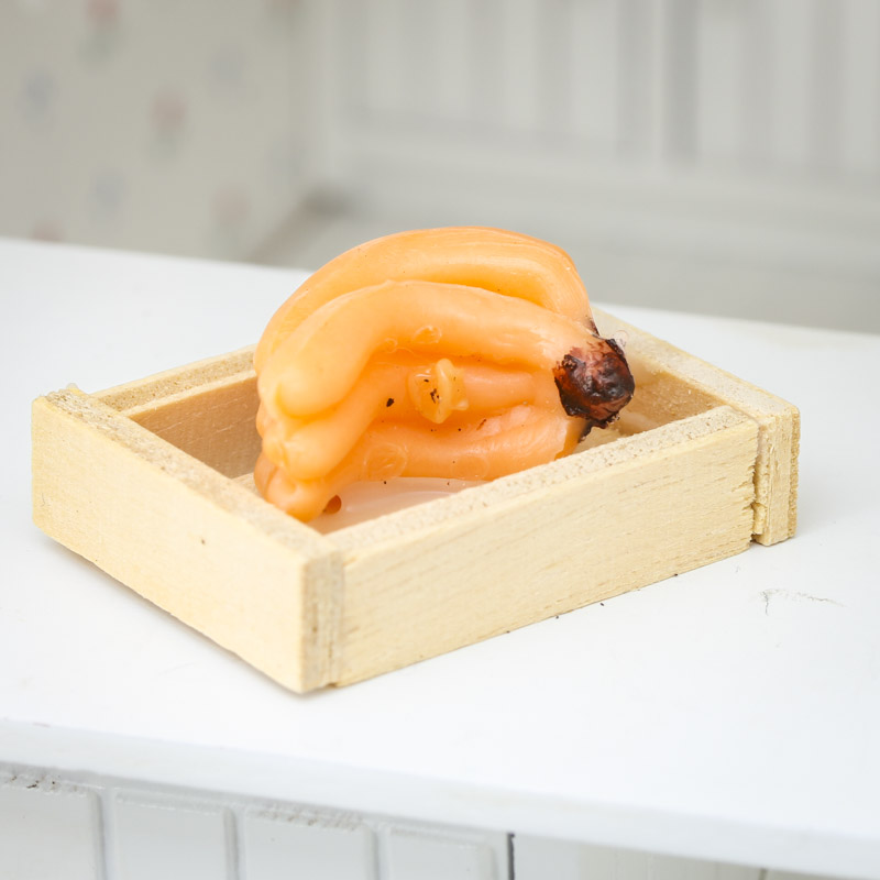 Dollhouse Miniature Banana Crate Food And Drink