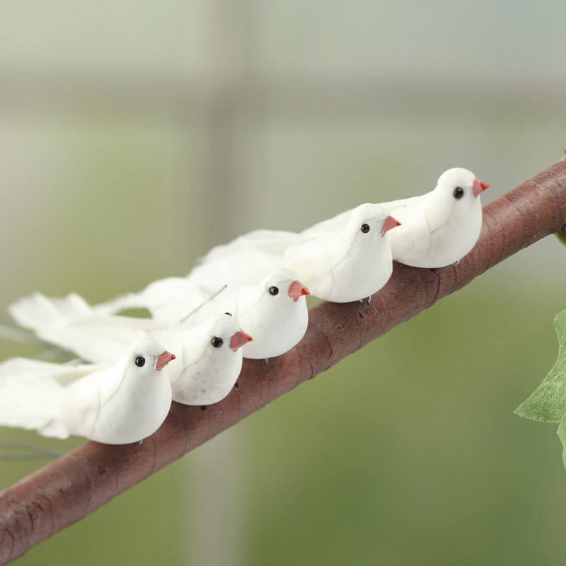 miniature artificial dove mushroom birds birds butterflies
