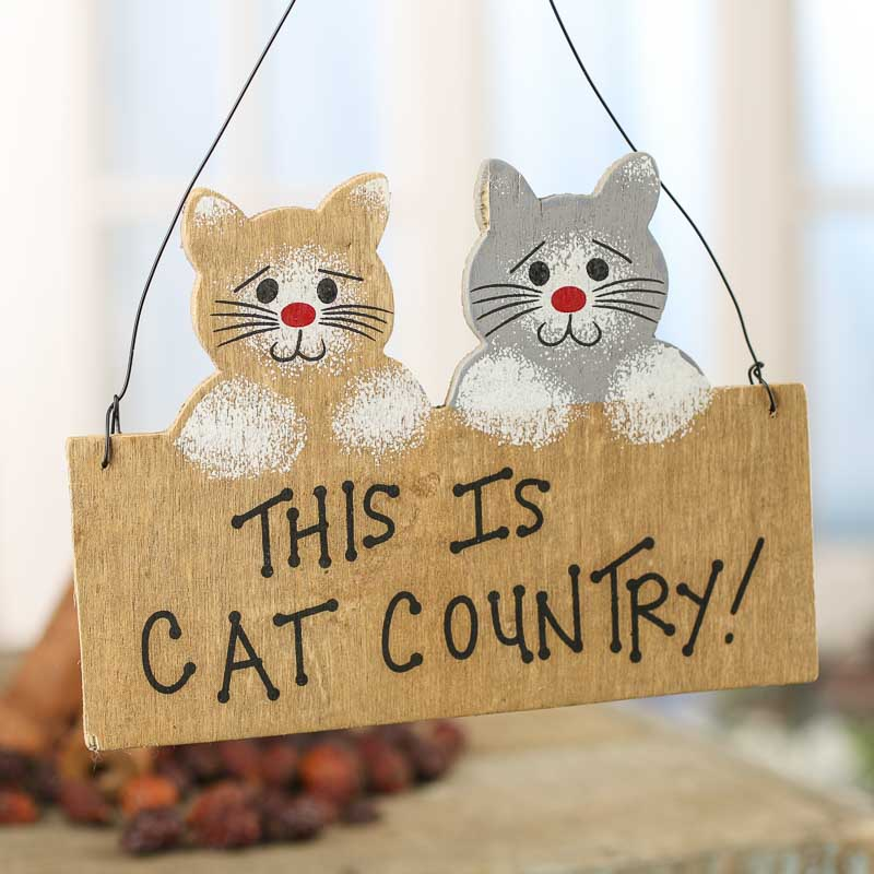 """""""Cat Country"""" Wood Ornament Sign - Signs & Ornaments ..."""