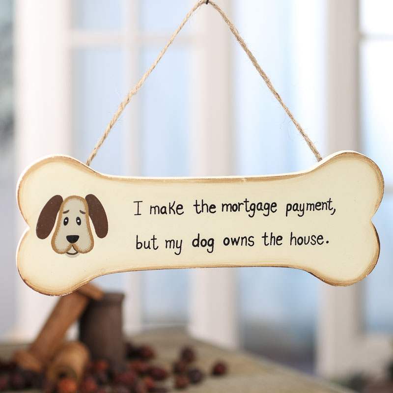 i make the mortgage wood dog bone ornament sign christmas