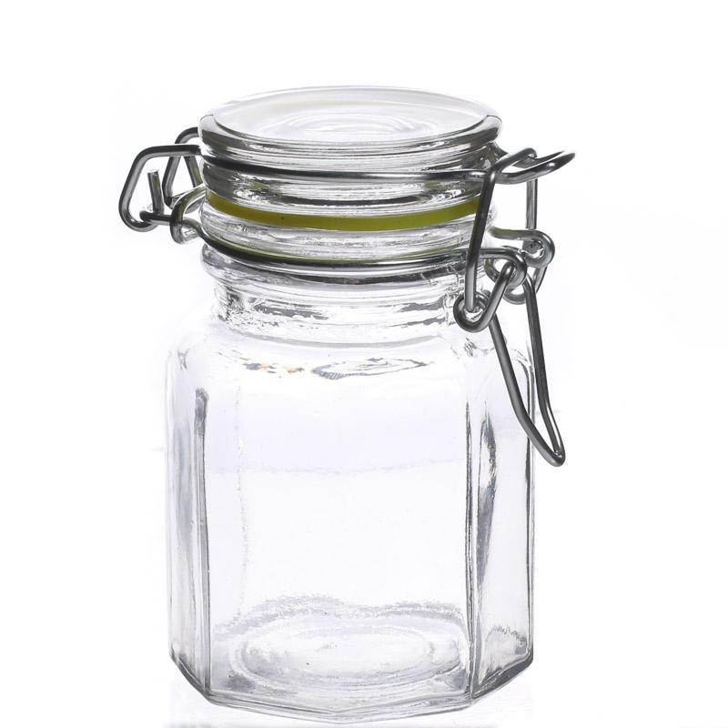 small clamp lid glass jar miniatures sale sales. Black Bedroom Furniture Sets. Home Design Ideas
