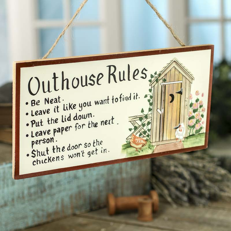 Quot Outhouse Rules Quot Sign Signs Amp Ornaments Home Decor