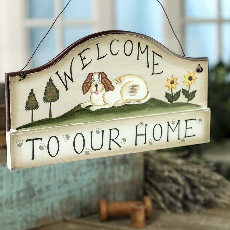 "Welcome To Our Beach House Sign: ""Welcome To Our Home"" Sign"