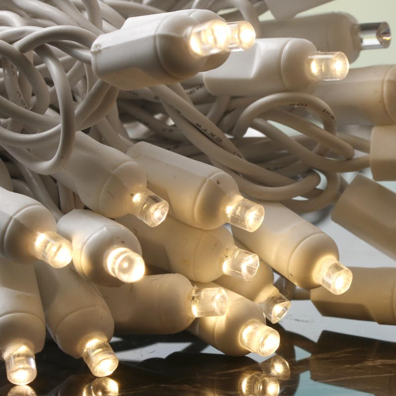 Led String Lights White Cord : Clear Bulb and White Cord LED String Lights - Wedding Sale - Sales