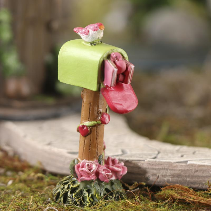 Miniature love letters mailbox fairy garden miniatures for Little fairy mailbox