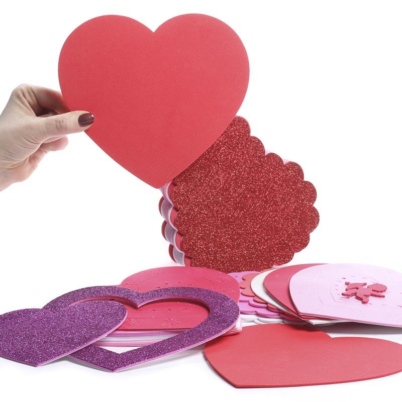 Valentine\'s Day Craft Foam Heart Frame Kits - Activity Kits - Kids ...