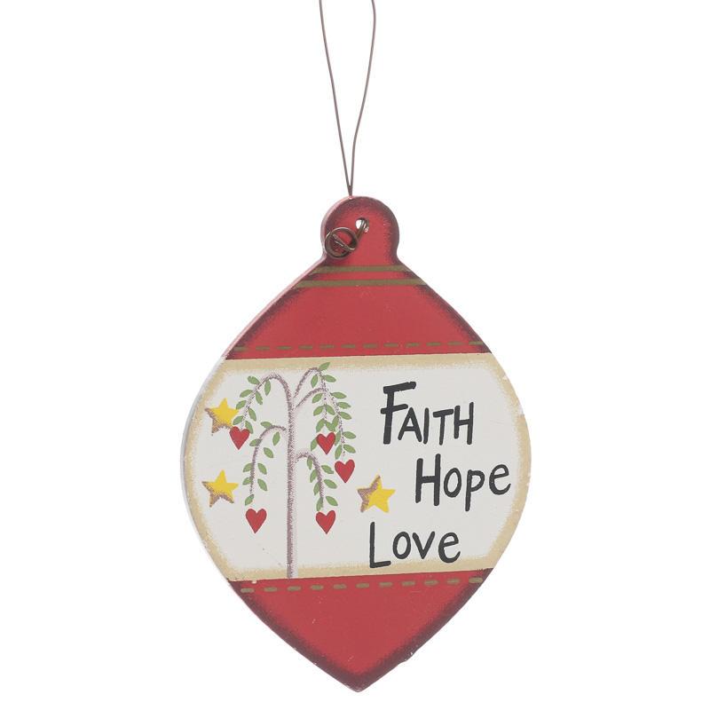 """""""Faith, Hope, Love"""" Wood Ornament - Christmas Ornaments ..."""
