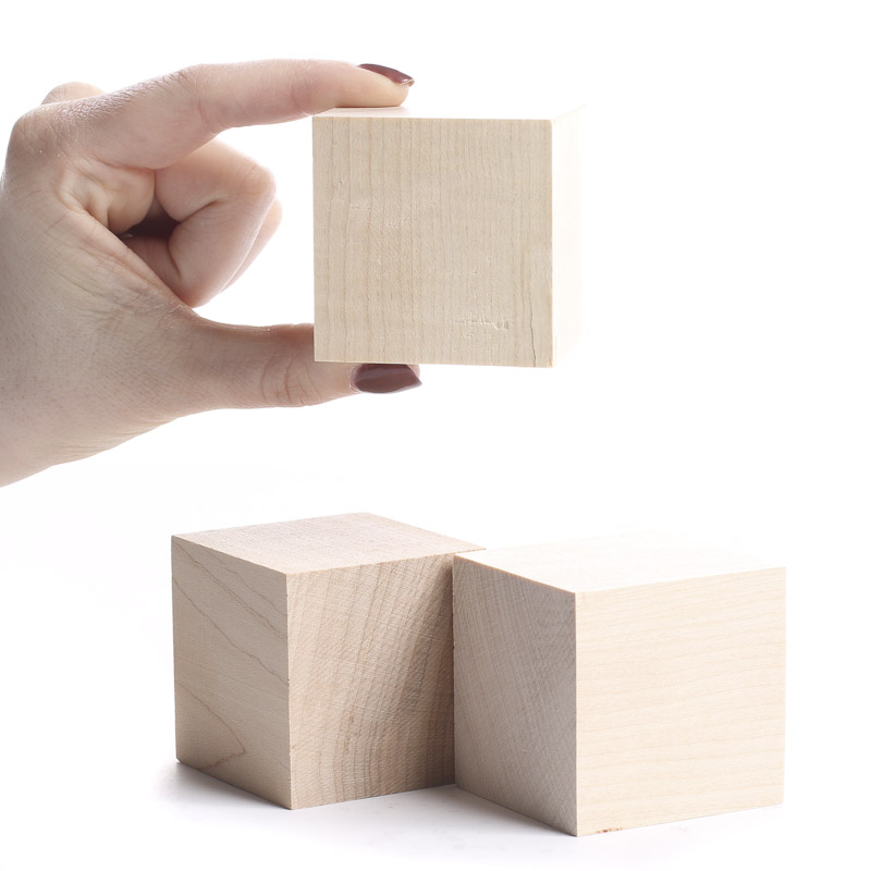 Unfinished wood cubes wooden cubes unfinished wood for Wooden craft supplies online
