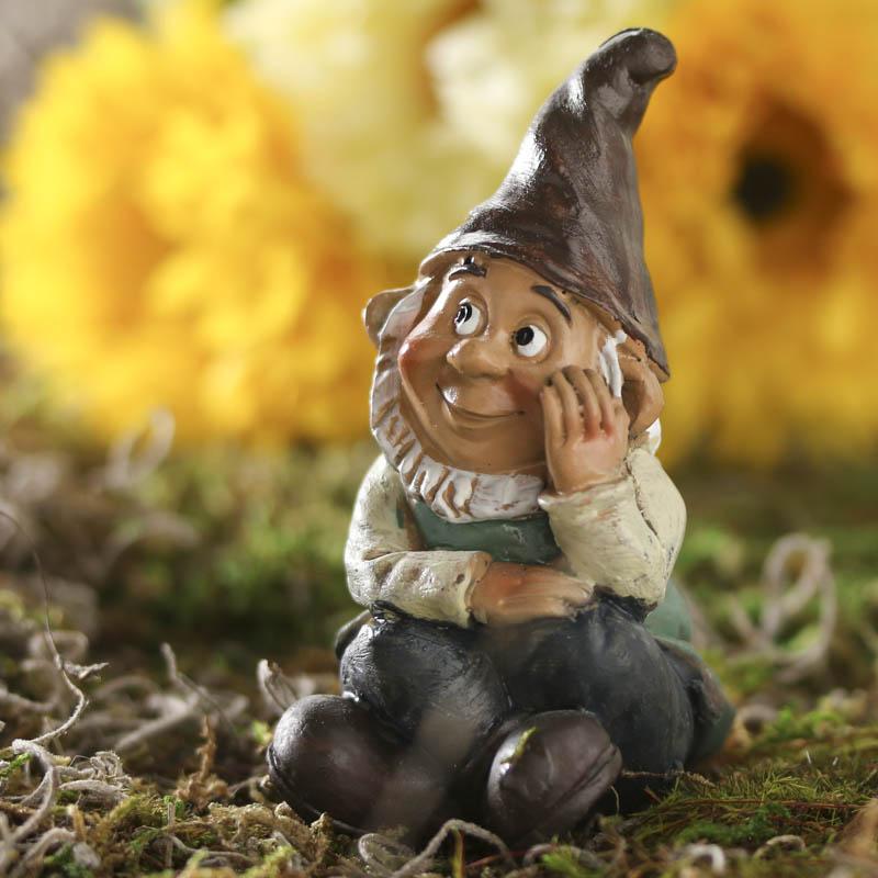 Miniature Pondering Garden Gnome Fairy Garden Miniatures