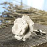 Ivory Porcelain Rose Knob
