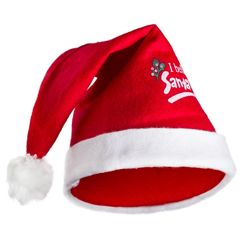 1c7977fb0c6872 Red Felt Santa Hat - Doll Hats - Doll Supplies - Craft Supplies