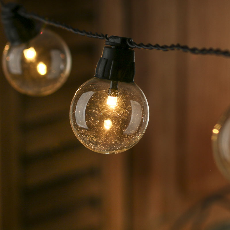 Light Globe String Lights : Battery-Operated Clear Globe Bulb LED String Lights - Lighting - Christmas and Winter - Holiday ...