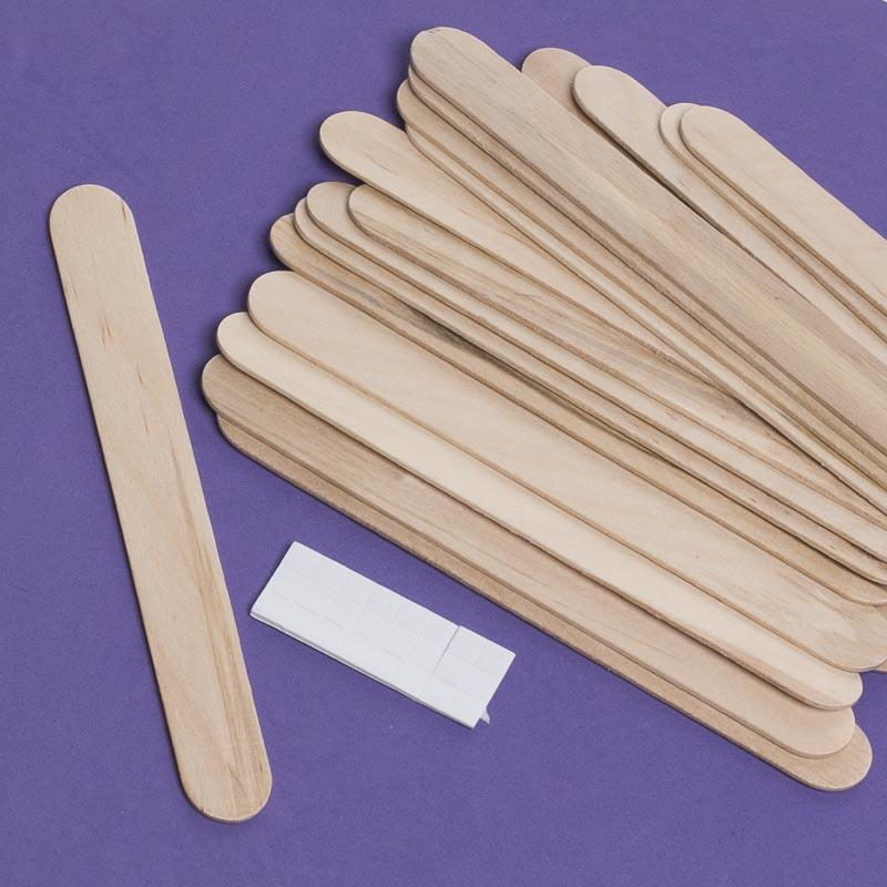 Craft sticks with adhesive stickers popsicle sticks and for Wood craft supply stores