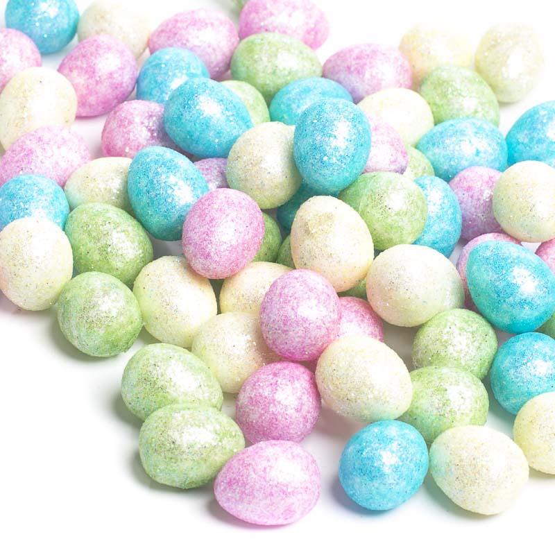 Miniature Pastel Glittered Easter Eggs - Birds ...