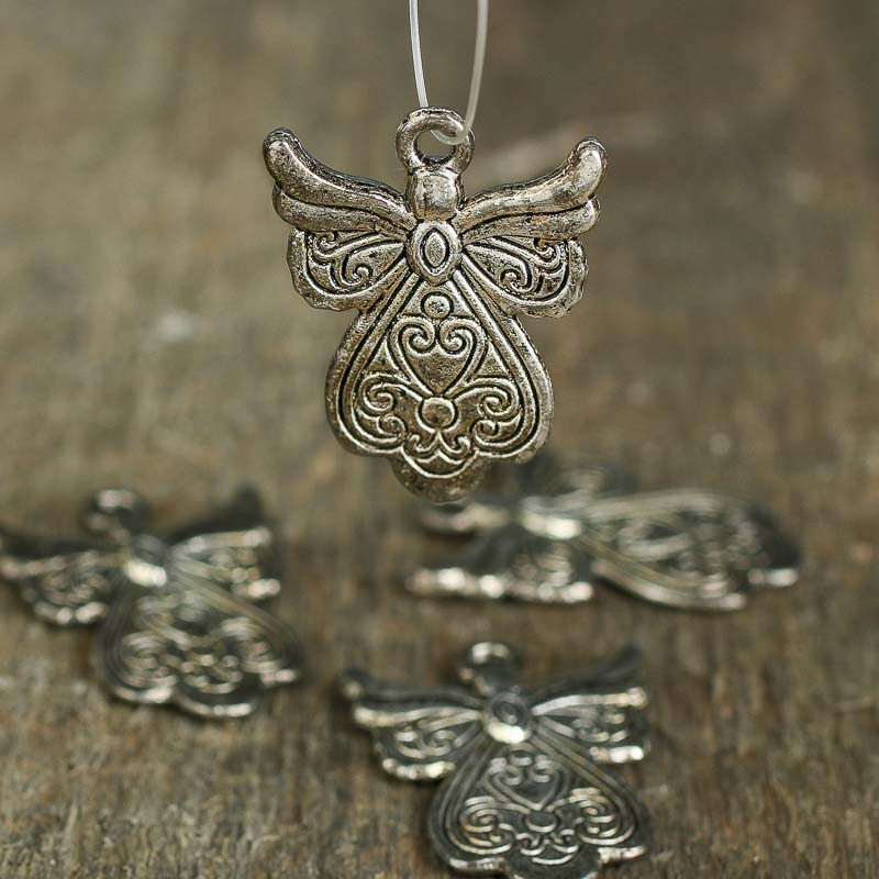 Metal filigree angel charms jewelry charmspendants jewelry click here for a larger view aloadofball Choice Image