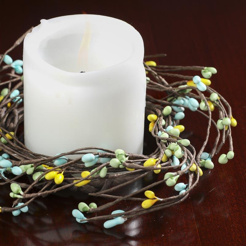 Springtime Pip Berry Candle Ring Spring And Easter