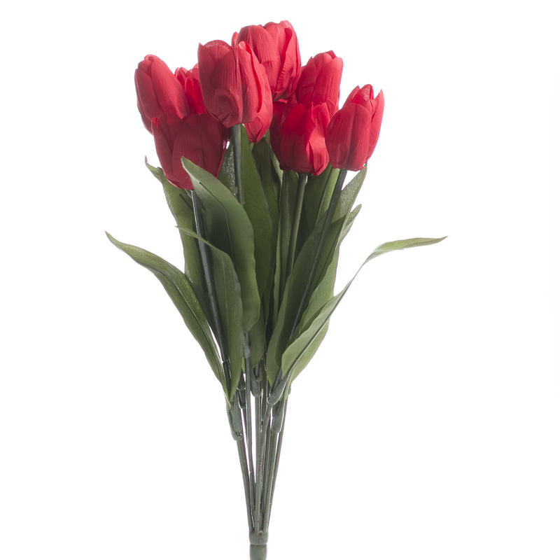 Red Artificial Tulip Bush Bushes Bouquets Floral