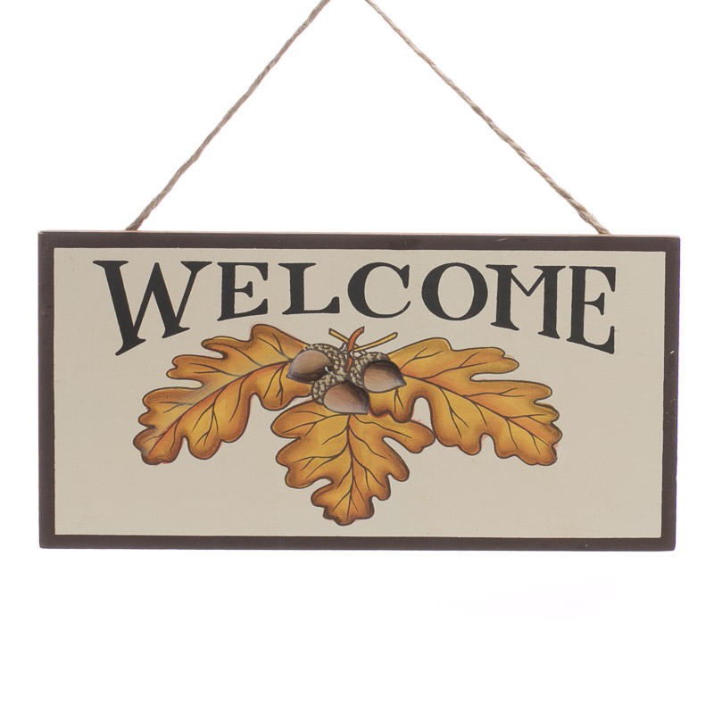 welcome sign autumn fall halloween wall crafts
