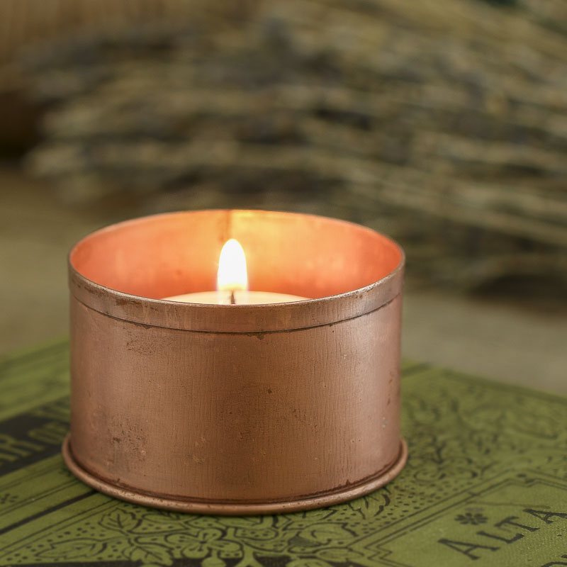 Copper Metal Candle Holder Candles And Accessories