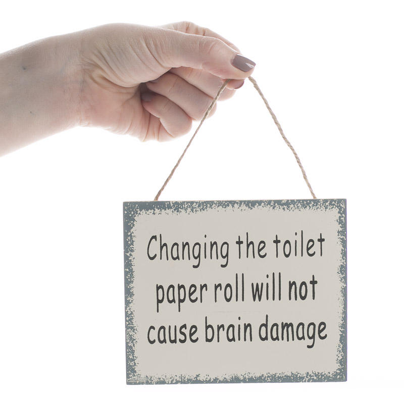 Quot Changing The Toilet Paper Roll Quot Sign Magnet Signs