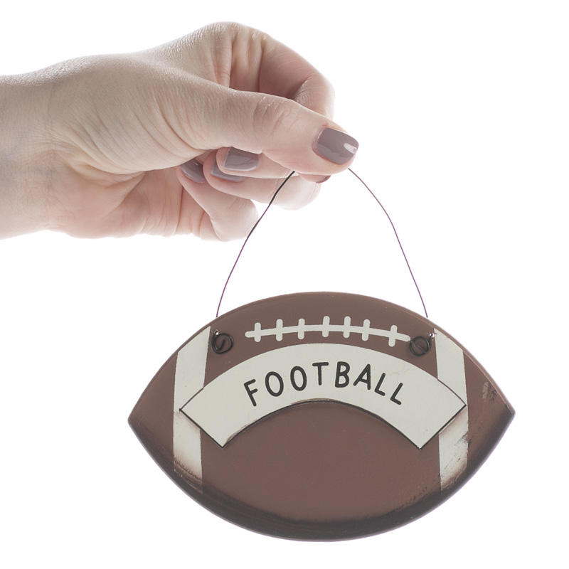 Quot Football Quot Wood Ornament Sign Sports And Cheerleading