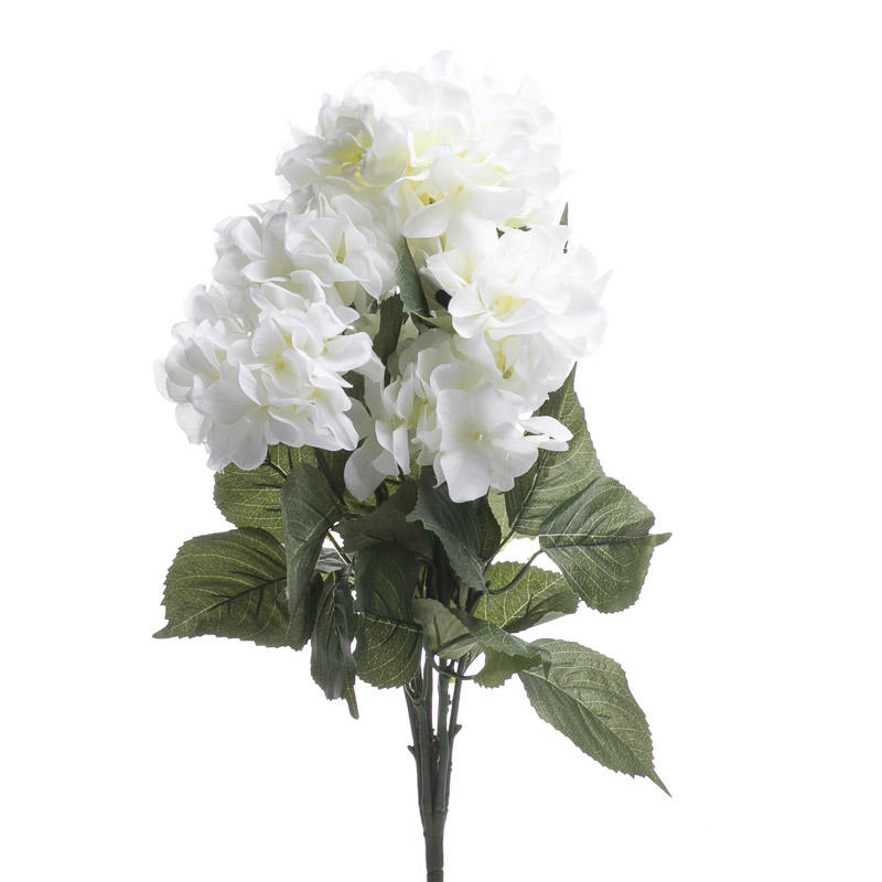 White Artificial Hydrangea Bush Bushes Bouquets