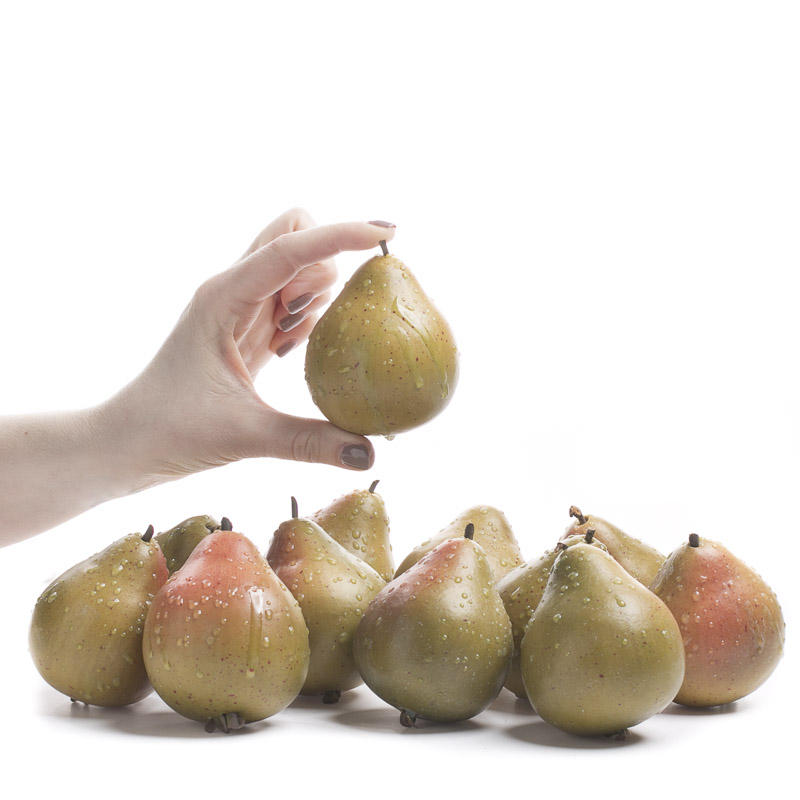 Dewy artificial pears vase and bowl fillers home decor for Artificial pears decoration