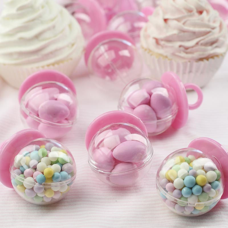 Fillable Pink Pacifier Baby Shower Favors - It's a Girl ...