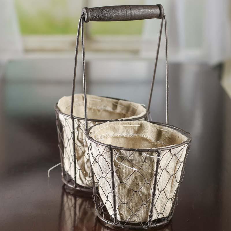 Storage Bins & Baskets Home & Garden Primitive Rustic Wire Barn Star Basket Soap Holder Container Organizer Country