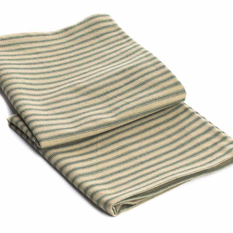 Dish Towel Sale: Natural And Green Pillow Ticking Dish Towel