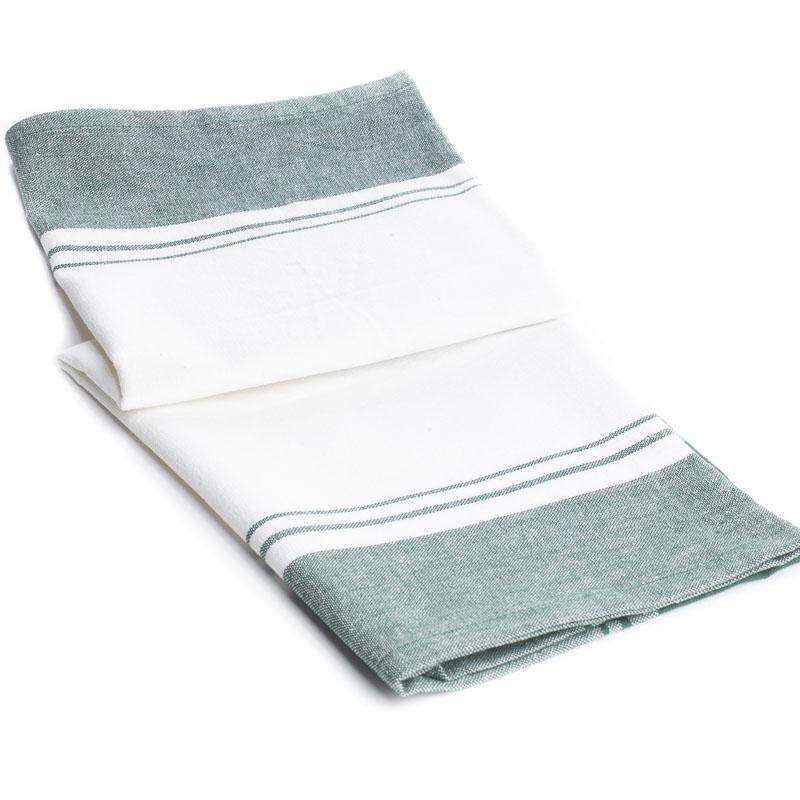 scotch green and white stripe dish towel kitchen towels