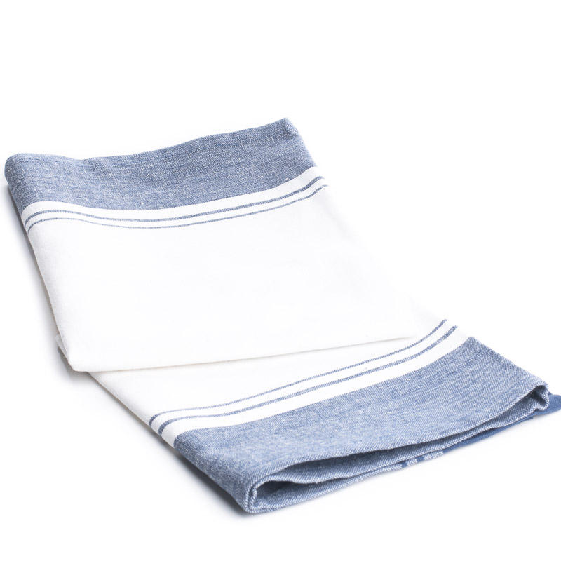 Nautical blue and white stripe dish towel kitchen towels for Blue and white striped bathroom accessories