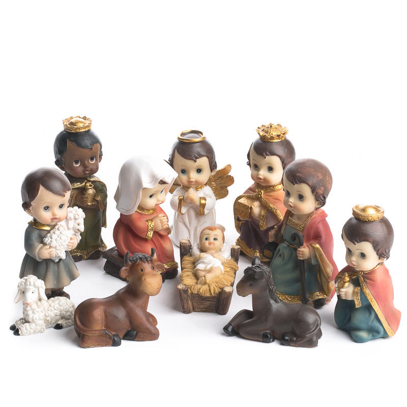Child Nativity Character Set Table Decor Christmas And