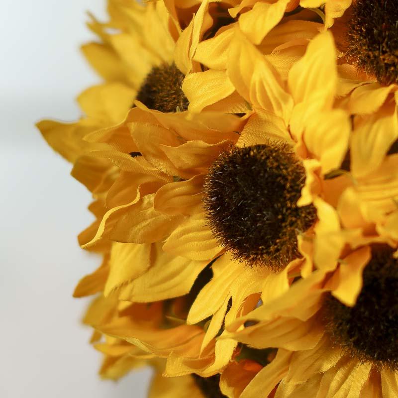 Artificial sunflower kissing ball fall florals