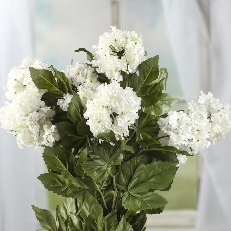 White Artificial Hydrangea Bush
