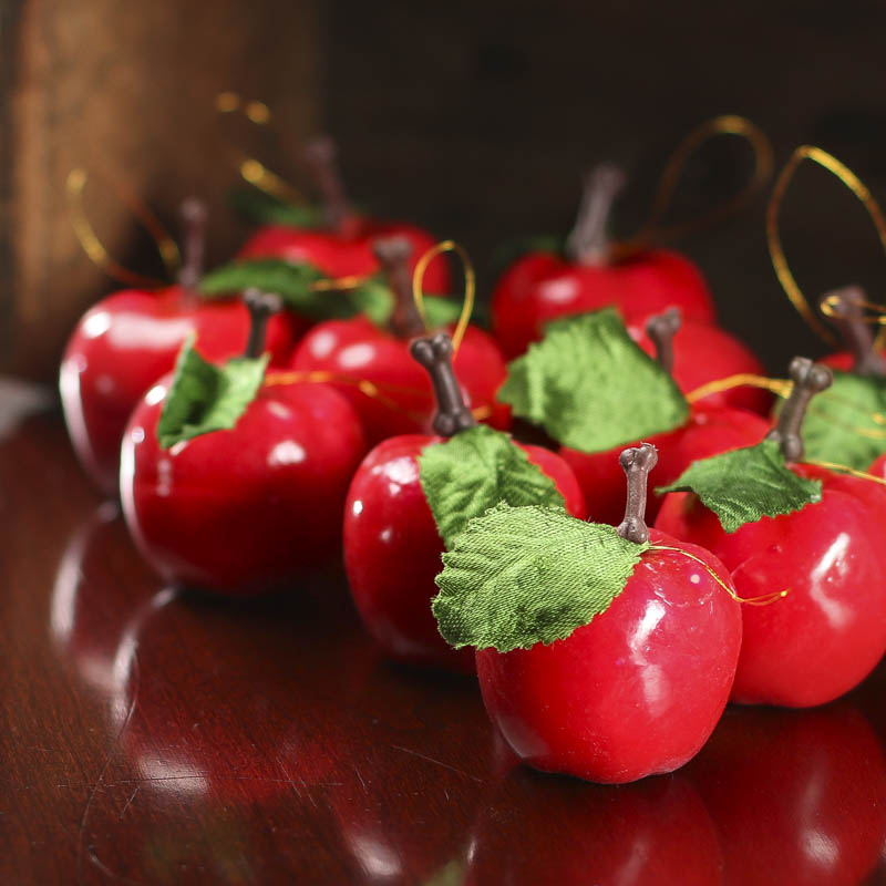 Apple Home Decor: Red Artificial Apple Ornaments