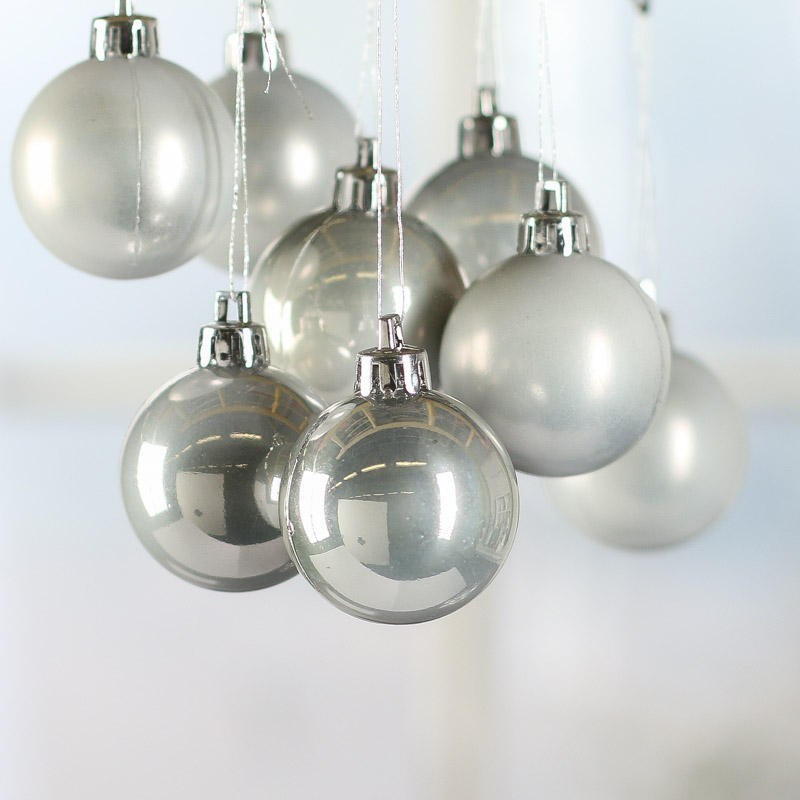 Small Platinum Christmas Ball Ornaments - Christmas Ornaments ...