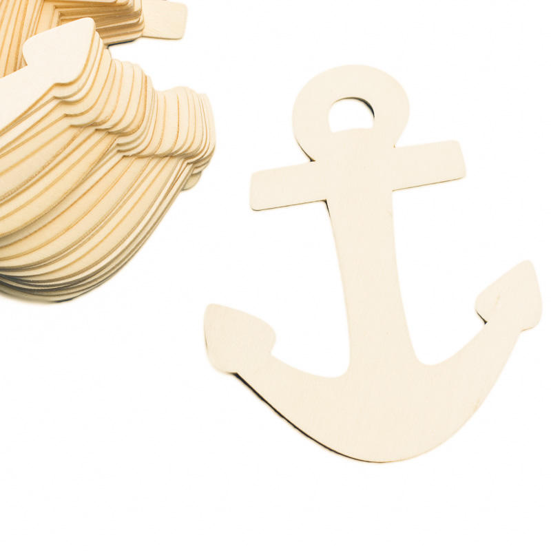 Unfinished wood anchor cutouts wood cutouts unfinished for Wood cutouts for crafts