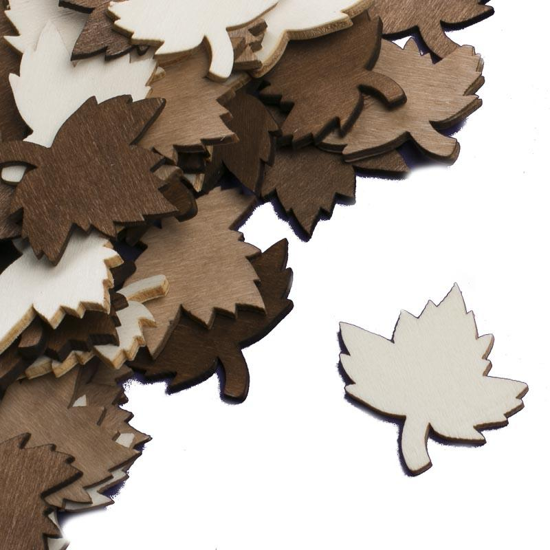 Neutral stained wood maple leaf cutouts wood cutouts for Wood cutouts for crafts