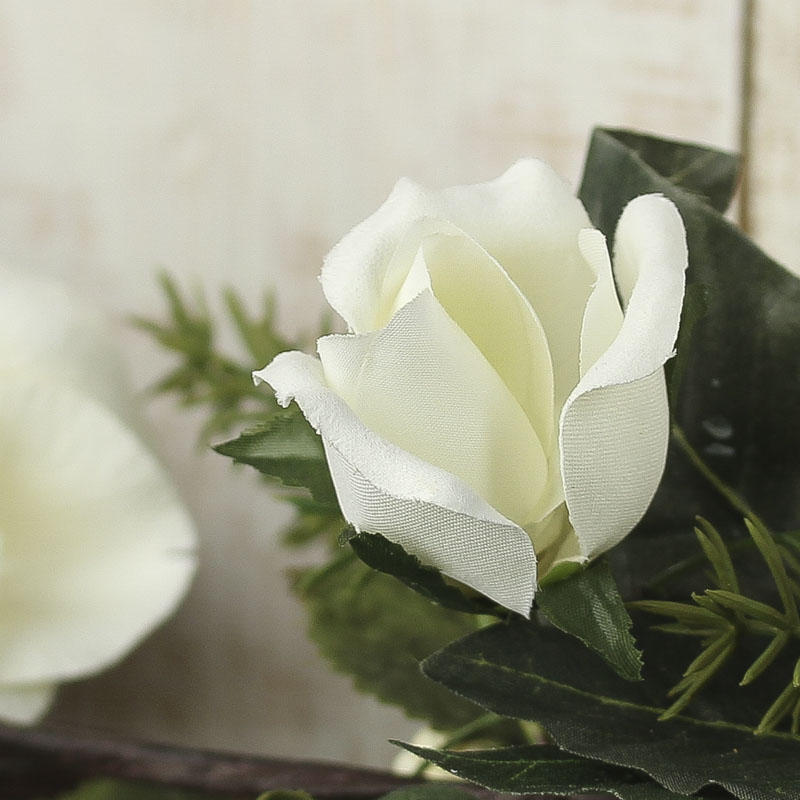 Artificial White Lily And Rose Garland Garlands Floral