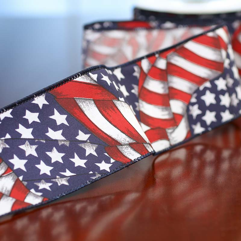 American flag ribbon americana decor home decor for American flag decoration