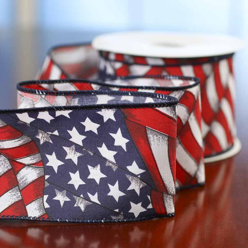 American Flag Ribbon Americana Decor Home Decor
