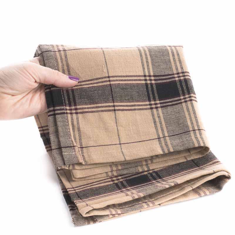 Black And Tan Plaid Cotton Dish Towel Kitchen Towels Kitchen And Bath Home Decor