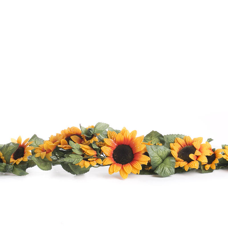 Dewy Artificial Sunflower Swag Garlands Floral